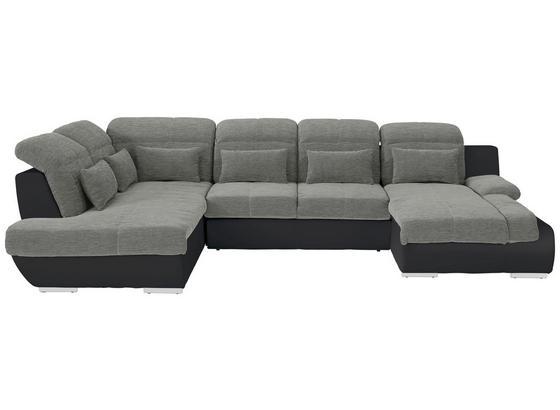 Sedací Souprava Multi - černá/barvy stříbra, Moderní, textil (228/345/184cm)