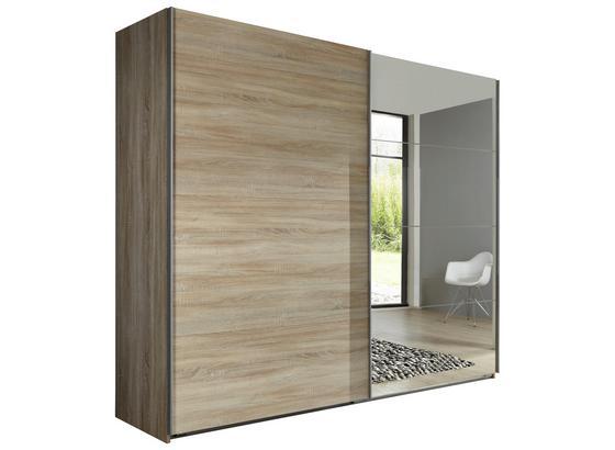 Skříň Ernie Dekor Dub - barvy dubu, Moderní, kompozitní dřevo/sklo (225/210/65cm)