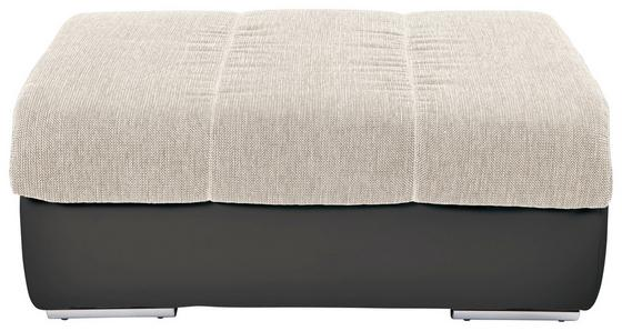 Taburet Multi - tmavě šedá/béžová, Moderní, textil (100/43/80cm)