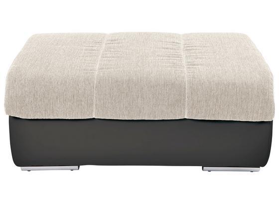 Taburet Multi - tmavě šedá/béžová, Moderní, textilie (100/43/80cm)