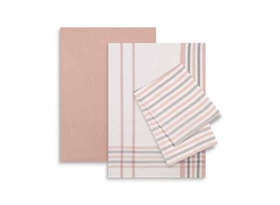Sada Utěrek Erika 3-dílná - šedá/bílá, textil (50/70cm) - Mömax modern living