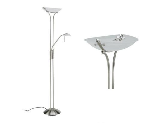 Stojacia Lampa Lupo - biela, Konvenčný, kov/sklo (30/180cm) - Mömax modern living