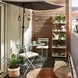 Balkónová Súprava - zelená, kov - Mömax modern living