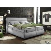 Boxspringbett Verstellbar 160x200cm Evolution 3, Silber - Silberfarben/Schwarz, KONVENTIONELL, Textil (160/200cm) - Esposa