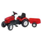 Kindertraktor mit Anhänger - Rot/Schwarz, MODERN, Kunststoff (132/45/38cm)