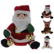 Weihnachtsfigur Sortiert - Rot/Goldfarben, KONVENTIONELL, Textil (18cm)