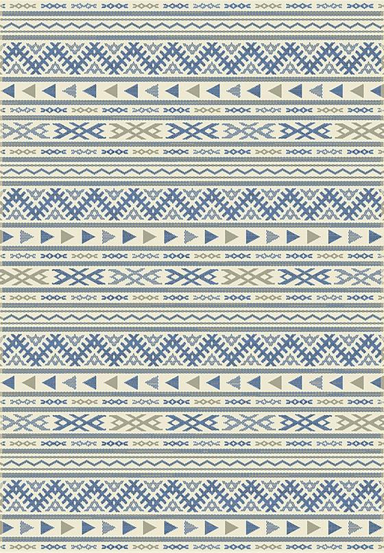 Hladce Tkaný Koberec Kelim 2 - modrá/přírodní barvy, Moderní, textil (120/170cm) - Mömax modern living