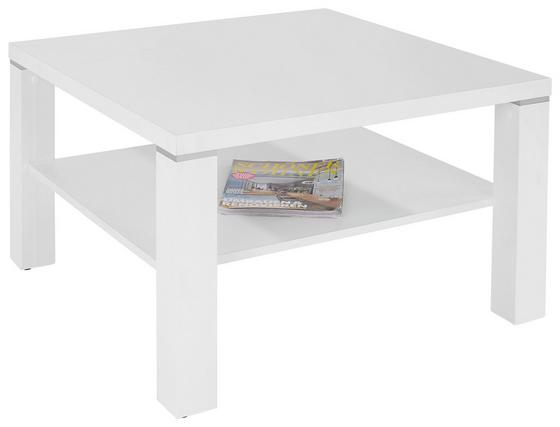 Dohányzóasztal Coffee 2 - Fehér, modern, Faalapú anyag (75/45/75cm)