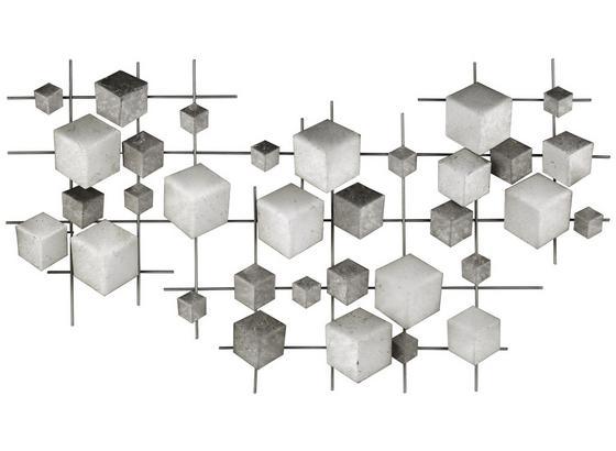 Dekorace Nástěnná Eos Ii - šedá/světle šedá, kov (92/50/4cm)