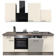 Küchenblock Eico 220 Cm Magnolie   Edelstahlfarben/Eichefarben, MODERN,  Holzwerkstoff (220/