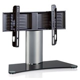 """TV-Rack Bis 37"""" Schwenkbar Windoxa Mini Max. 30 Kg - Silberfarben/Schwarz, KONVENTIONELL, Glas/Metall (70/52/30cm) - MID.YOU"""