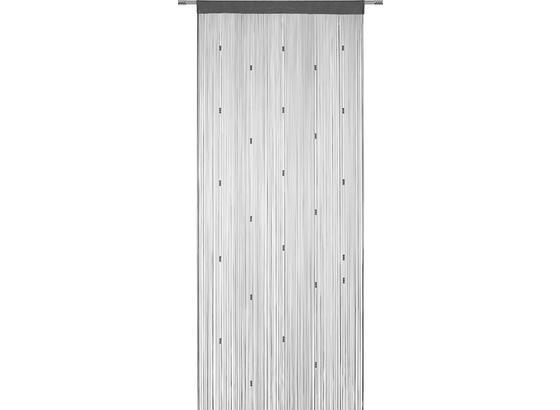 Provázková Záclona Perle -top- - růžová/antracitová, Romantický / Rustikální, textil (90/245cm) - Mömax modern living