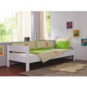 Kinder-/Juniorbett Nik 90x200 cm Buche/Weiß - Weiß, Design, Holz (90/200cm)