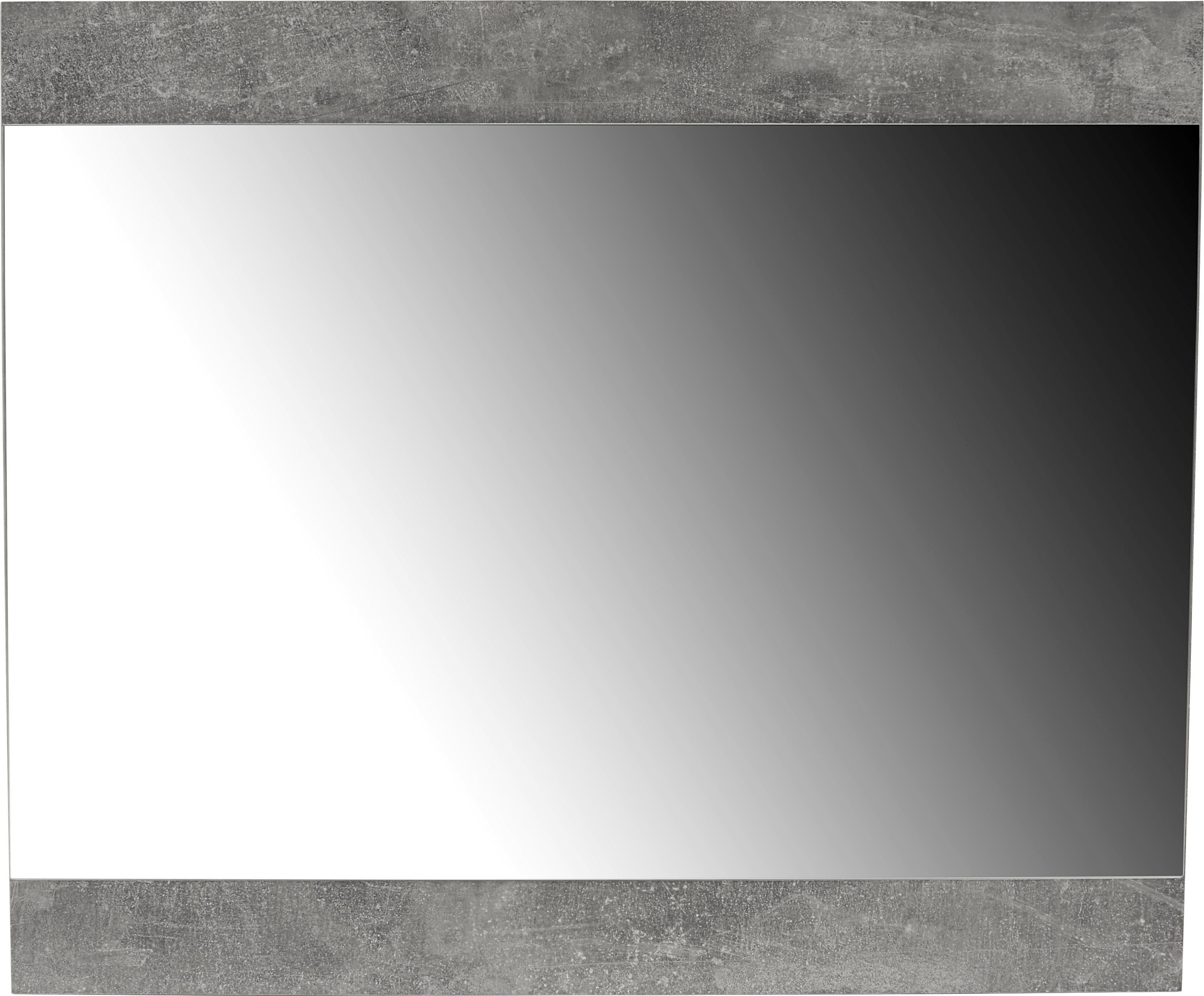 Ogledalo Ogledalo - svijetlo siva, Moderno, staklo/drvni materijal (80/67/2cm)