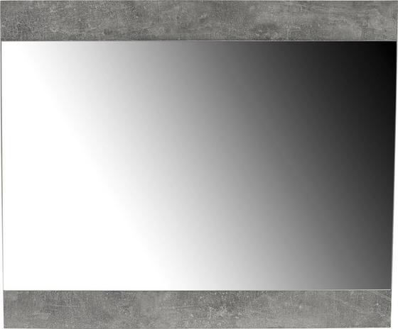 Tükör Tina - világosszürke, modern, üveg/faanyagok (80/67/2cm)