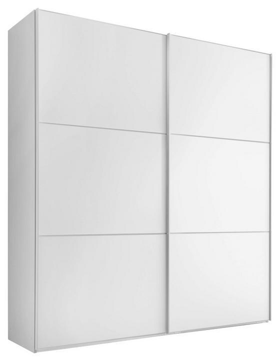 Schwebetürenschrank Includo 222cm Weiß - Weiß, MODERN, Holzwerkstoff (200/222/68cm)