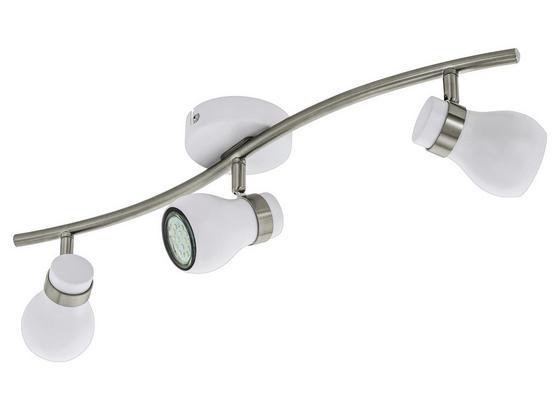 LED-Deckenleuchte Arboledas - Weiß/Nickelfarben, MODERN, Metall (10,5/56cm)