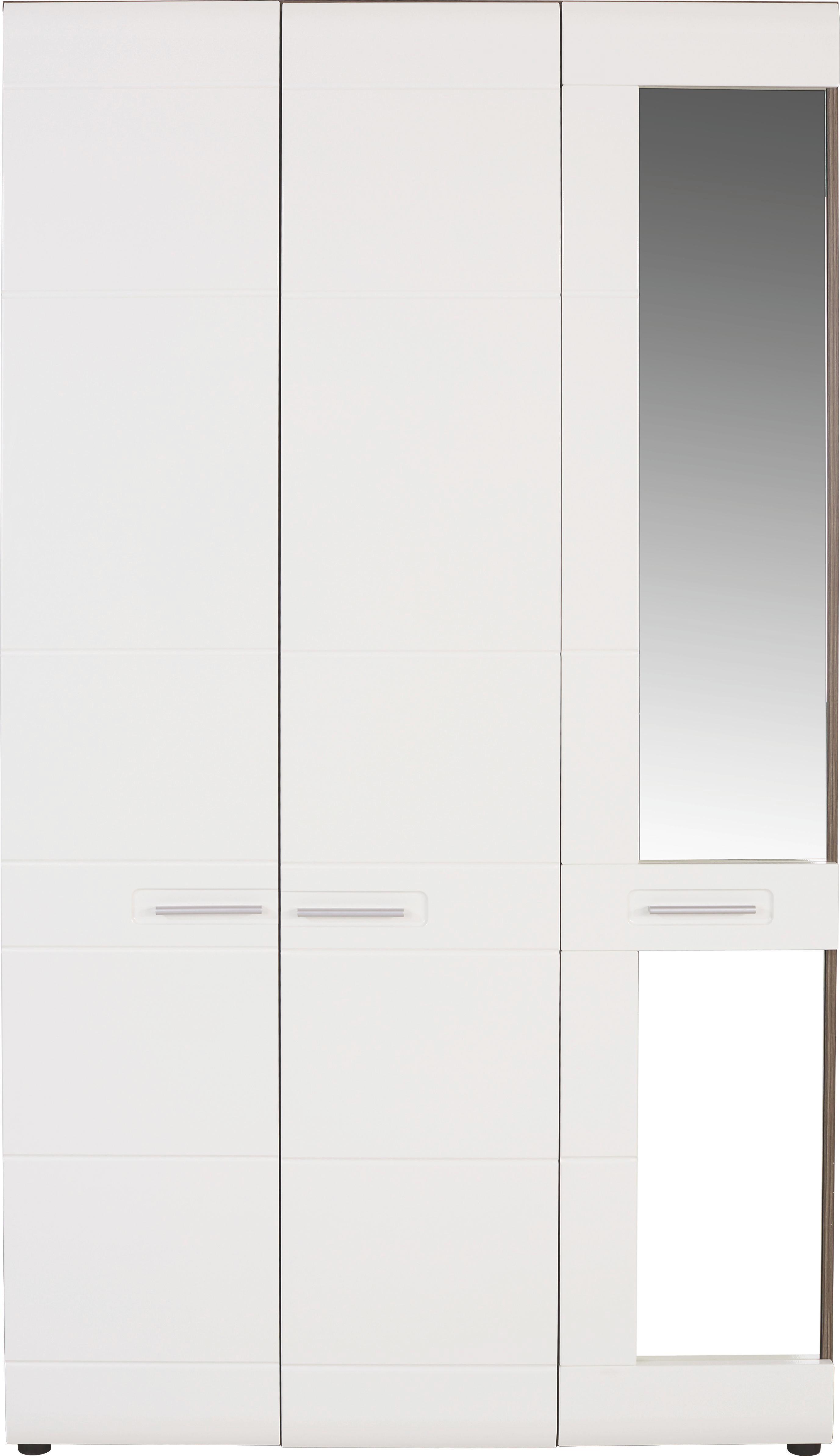 Šatná Skriňa Avensis - biela, Moderný, drevo (120/206/60cm) - LUCA BESSONI