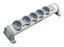 Steckdosenelement Legrand Drehbar 5 X Schuko - Weiß/Grau, KONVENTIONELL, Kunststoff (32,5/7,5/9cm) - Legrand