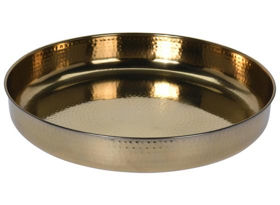 Dekoteller Marron Gold - Goldfarben, LIFESTYLE, Metall (41/7cm)