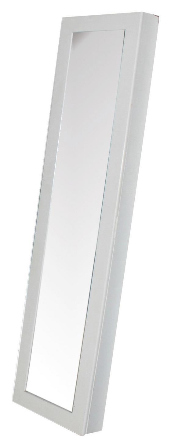 Schmuckschrank Ariana - Schwarz/Weiß, MODERN, Glas/Holzwerkstoff (30/115/8cm)