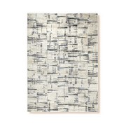 Webteppich Rollo - Blau/Creme, Basics, Textil (120/170cm) - Ombra