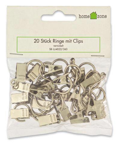 Ring Nickel, 20 Stk. - Chromfarben, KONVENTIONELL, Metall - HOMEWARE