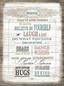 Keilrahmenbild House Rules - Multicolor, Holz/Holzwerkstoff (57/77cm)