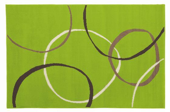 Teppich Lime 100x160 cm - Grün, KONVENTIONELL, Textil (100/160cm)