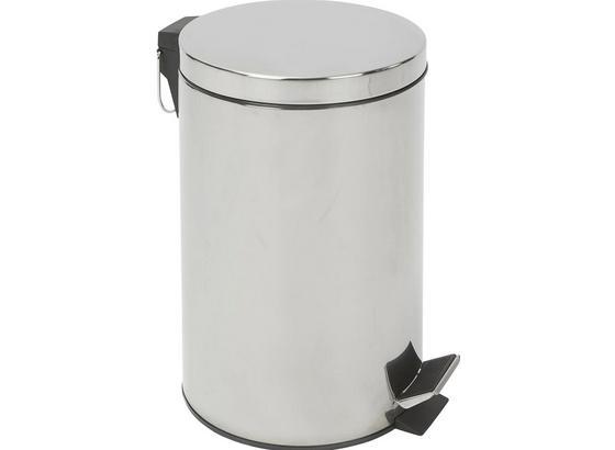 Treteimer Leonardo Iv - Chromfarben/Schwarz, KONVENTIONELL, Kunststoff/Metall (29,5/65cm) - Homezone