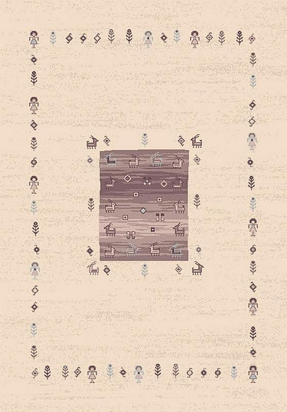 Gyerekszőnyeg Casa - bézs/barna, konvencionális, textil (120/170cm)