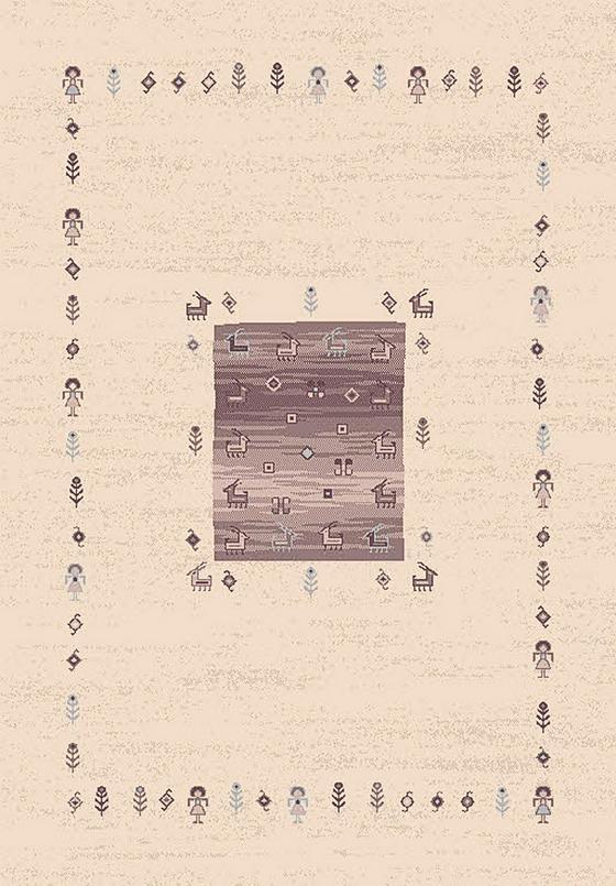 Webteppich Casa 160x230 cm - Beige/Braun, KONVENTIONELL, Textil (160/230cm)