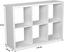 Regál Lucky - bílá, Moderní, kompozitní dřevo (110/75/35cm)