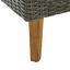 Pohovka Z Umělého Ratanu Vittorio - šedá, Moderní, kov/dřevo (162/65/82cm) - Modern Living