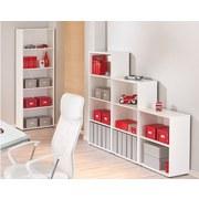 Regal Arco B 60cm, Weiß - Schwarz/Weiß, Basics, Holzwerkstoff (60/75/30cm) - Livetastic