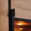 Vitrine Nyon B: 89cm inkl. Led Spot Beleuchtung - Eichefarben/Schwarz, MODERN, Glas/Holzwerkstoff (89/138,1/40,5cm)
