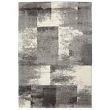 Hochflorteppich Quadrat, 60/115 - Weiß/Grau, MODERN, Textil (60/115cm)