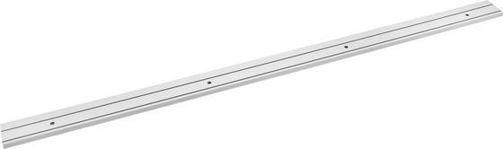 Vorhangschiene Weiß - Weiß, KONVENTIONELL, Kunststoff (120cm) - Ombra