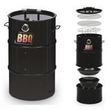 Grilltonne G2b-52114 Barbecue 4-In-1 - Schwarz, Basics, Metall (43/36/66cm)