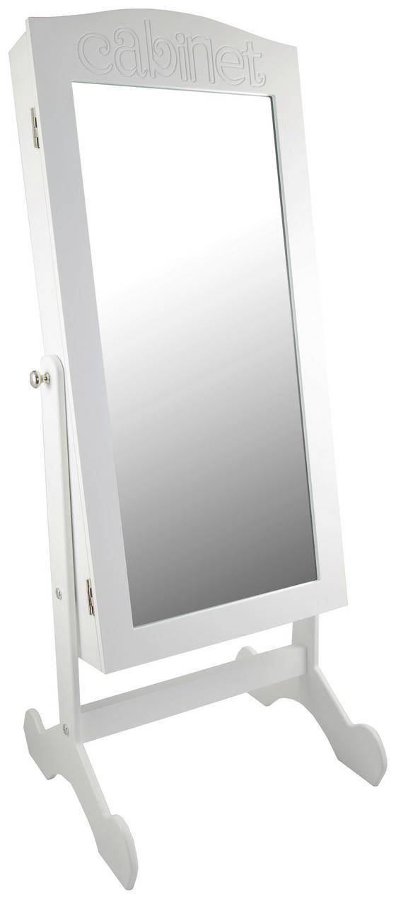 Schmuckschrank Ines Weiss inkl. Licht - Weiß, MODERN, Glas/Holzwerkstoff (36/30/82cm)