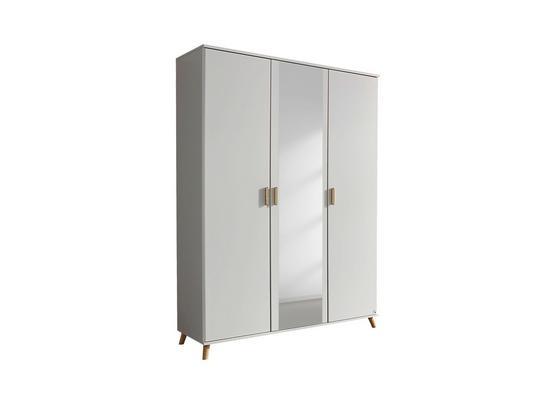 Skříň Falun - bílá, Moderní, kompozitní dřevo (137/203/53cm)