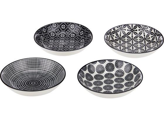 Miska Shiva - čierna/biela, Štýlový, keramika (9,5/2cm) - Mömax modern living