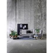 Dresitzer-Sofa Kamma Webstoff - Hellgrau/Naturfarben, LIFESTYLE, Textil (201/105/89cm) - Carryhome