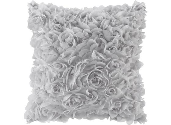 Polštář Ozdobný Rosalinde - barvy stříbra, Romantický / Rustikální, textil (40/40cm) - Mömax modern living