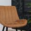 Stuhl-Set Brooke 2-Er Set Braun - Schwarz/Braun, Basics, Textil/Metall (56/86/52cm) - Livetastic
