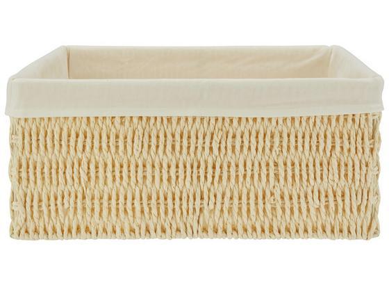 Koš Sally - S - bílá, textil/papír (24/20/10cm) - Mömax modern living