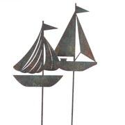 Dekoschiff Stecker 'segelboot' - Blau, LIFESTYLE, Metall (80cm)
