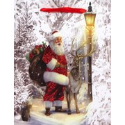 Geschenktasche Christmas Traditions XL - Rot/Hellgelb, Basics, Karton (30/40/12cm)