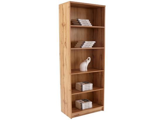 Regál 4-you New Yur03 - farby dubu, Moderný, kompozitné drevo (74/189,5/34,6cm)
