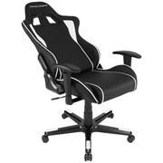 Gamingstuhl DX Racer Formula Schwarz/Weiß - Schwarz/Weiß, MODERN, Kunststoff/Textil (67/119-128/67cm) - Dxracer